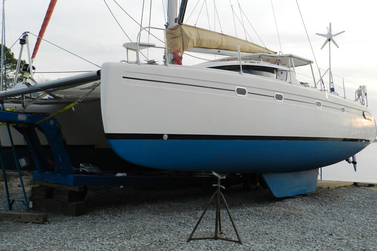 42 foot catamaran after