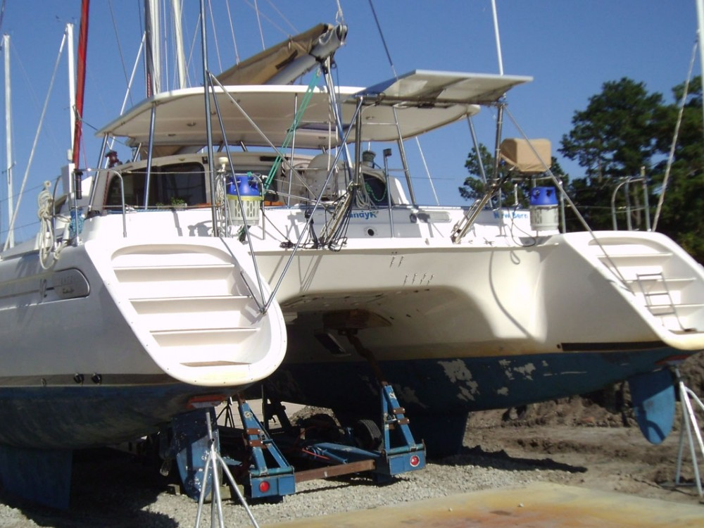 42 foot catamaran before